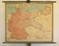 Wandkarte Deutschland 89x73cm~1955 vintage wall map germany 1922-35-1937 1945?