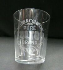 Vintage Myer's & Company Pure Fulton Brand Shot Glass, AS IS