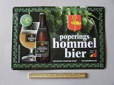 Popering Hommel Bier Belgian Brewers Brownser IJ Eecke Beer Metal Tin Sign Bar