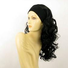 headband wig long curly black  BUTTERFLY 1B