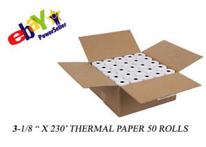 3 1/8 x 230' THERMAL RECEIPT PRINTER ROLL PAPER BPA FREE USA 50 ROLLS