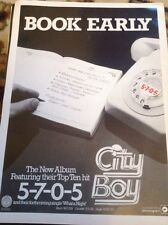 N1-4 Ephemera 1978 Advert City Boy Book Early 5705