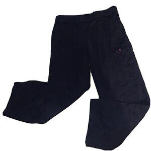 L-RL Ralph Lauren Active Womens Sweat Pants W Pockets Size XL Blue Comfortable