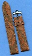Omega Steel Buckle & 19mm Brown Snake Skin MB Strap Band Speedmaster Leather Lin