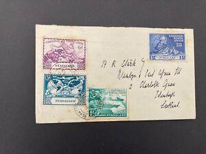 Postal History Nyasaland UPU FDC 1949 to Edinburgh Scotland