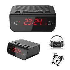 Black Digital FM Alarm Clock Radio with Dual Alarm Snooze Sleep Time Function EU