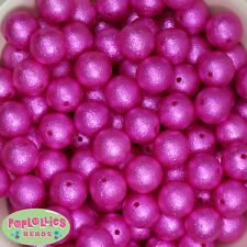 16mm Hot Pink Acrylic Crinkle Pearl Bubblegum Beads Lot 20 pc.chunky gumball
