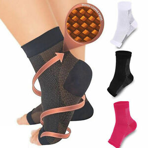 Ankle Sleeve Compression Sock Support Plantar Fasciitis Heel Foot Pain Relief