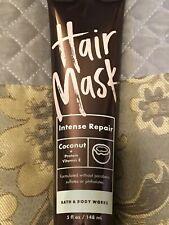 ONE Bath & and Body Works Hair Mask Intense Repair Coconut Vitamin E. 5 oz. NEW!