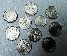 10 USSR Coins x 1 Rouble / Ruble / Рубль  CCCP