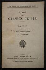 TARIFS DES CHEMINS DE FER 1881 CHAMBRE DE COMMERCE DE PARIS A. POIRRIER Train