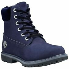 """Womens Ladies Timberland Premium 6"""" 6 Inch Boots Lace Up Navy Size UK 4 W EU 37"""