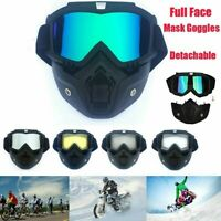Men/Women Retro Outdoor Cycling Mask Goggles Snow Sport Skiing Full Face Glasses