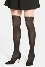 DKNY Illusion Lowrise 'Over The Knee' Tights / Pantyhose Black Size S NEW
