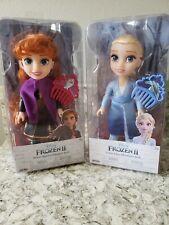 Disney Petite Princess Elsa & Anna Adventure Frozen II Doll with Combs ~ NEW~HTF
