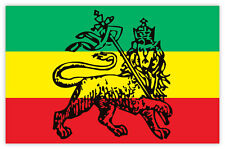 "Bob Marley reggae flag sticker decal 5"" x 3"""