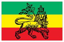 """Bob Marley reggae flag sticker decal 5"""" x 3"""""""