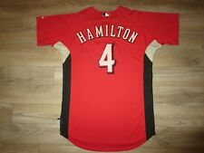 Billy Hamilton 4 Cincinnati Reds Baseball MLB Team Issue Game Majestic Jersey 44
