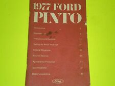 1977 Ford Pinto Owners Manual Original 12 Pictures Free Shipping