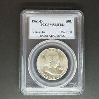 1961 D Franklin Half Dollar PCGS MS64 FBL       *Rev Tye's Coin Stache* #865637