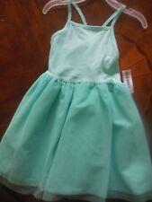 Toddler Girls Teal Sundress Dress w/Spaghetti Straps, 4T, Ballerina Style