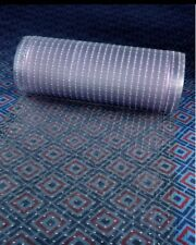 Clear Plastic Runner Rug Carpet Protector Mat Ribbed Multi - Grip.(26in X 50FT)
