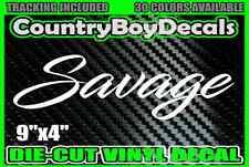 SAVAGE Vinyl DECAL STICKER Car Truck Turbo Boosted 4X4 Gas Boost Mud Diesel