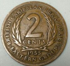 1955 British Caribbean Territory Eastern Group 2 Cents CH0722