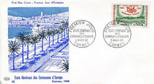 FRANCE FDC - 333 1244 1 COMMUNES D'EUROPE CANNES 5 3 1960
