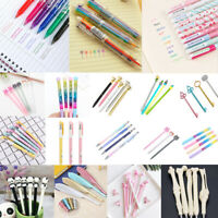 1/10Pcs School Office Writing Sign Pens Kids Gel Pen Ballpoint Stationery Gift