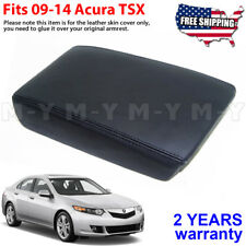 Fits 2009-2014 Acura Tsx Leather Center Console Lid Armrest Cover Skin Black (Fits: Acura Tsx)