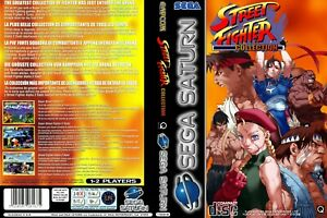 - Street Fighter Collection Saturn Replacement Case + Box Art Work Cover Only