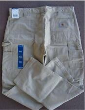 *New 36x34 CARHARTT Carpenter Jeans TAN Field KHAKI Relaxed Twill Dungaree Pants