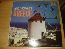 NIKOS GOUNARIS' GREECE, Recorded in Athens (LP, 1958) Capitol T-10128 Greek Folk