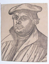 2 Late Impression Woodcuts of Martin Luther and Katharina von Bora
