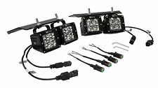 Raptor fog light kit LED 4x pods cube SVT Ford F150 race 3d spot Phillips truck