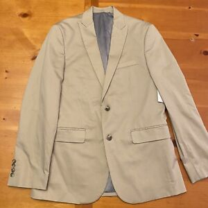 Calvin Klein Mens Sport Coat Beige Size Slim Fit Blazer New NWT $178