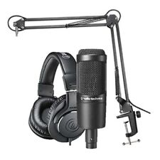 Audio-Technica AT2035 Studio Microphone Pack w/ ATH-M20x Boom & XLR Cable NEW