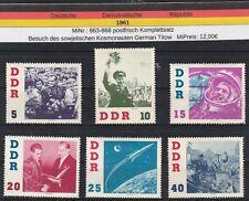 DDR 1961 MiNr:863-868 postfrisch Kosmonautenbesuch