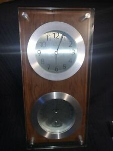 BULOVA  WALL CLOCK - THERMOMETER, HYGROMETER AND CLOCK Works Great