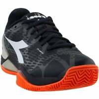 Diadora Speed Blushield 2 Clay Mens Tennis Sneakers Shoes Casual   - Black -