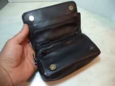 FB BORSA IN PELLE PER PIPA PIPE TABACCO ED ACCESSORI PER 2 PIPE BAG BT165 NEW
