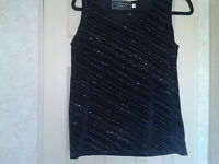 ladies black/silver top from eternal size 10/12