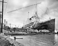 Historical Photograph of Steamship S.S. Proteus New Orleans levee 1903  8x10