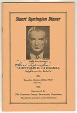 1959 STUART SYMINGTON Signed Program, 1st Secretary Air Force, Missouri Senator