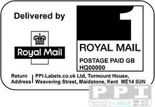 1000 Royal Mail PPI Labels with Return Address PPI-01-21 (21s) 1st 2nd Class