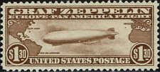 #C-14 1930 $1.30 GRAF ZEPPELIN AIRMAIL ISSUE  MINT-REGUMMED--VF