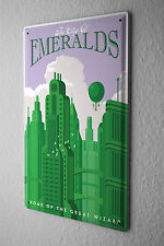 Tin Sign Deco City  Emeralds home Magician skyscraper 8X12