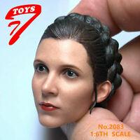 1/6 Leia Princess Carrie Fisher Princess Head Sculpt Fit 12'' Action Figure Body
