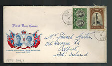 1937 Canada first day cover Coronation FDC KGVI King george 6 to Belfast Ireland